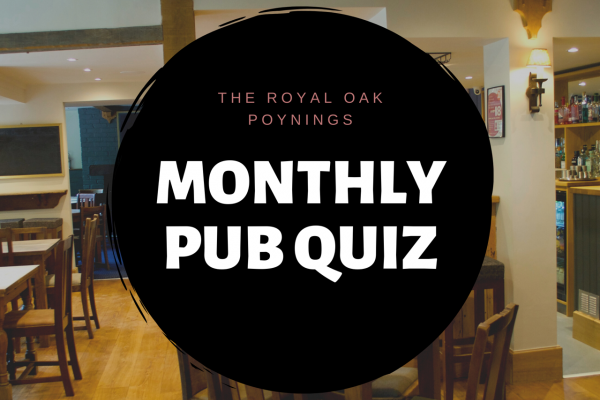 Monthly pub quiz in Sussex